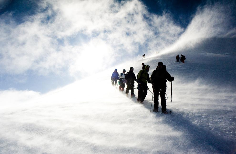 Tempestade no Mont Blanc - Foto de Aniko Molnar